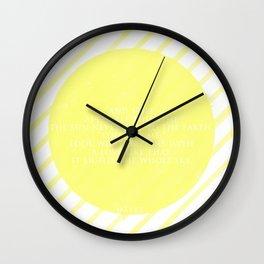 Hafez sun love quote Wall Clock