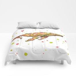 Tangerine Whale Comforters