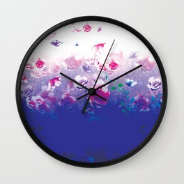 Peonies In Water Wall Clock