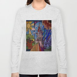 Castle Stained Glass Long Sleeve T-shirt