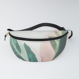 Pink Leaves I Fanny Pack