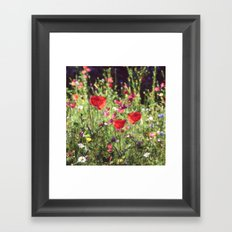 A floral spot on Earth Framed Art Print