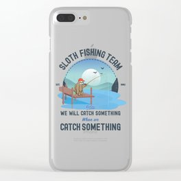 Sloth Fishing, Sloth Fishing Team Clear iPhone Case