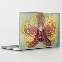 orchid Laptop & iPad Skins featuring Orchid  by Honey Malek