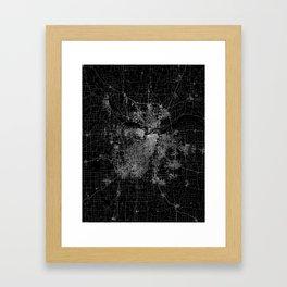 Kansas City map Framed Art Print