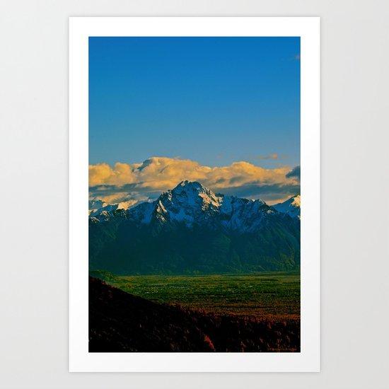 Pioneer Peak - Mat-Su Valley Art Print