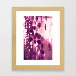GLAM CIRCLES #Pink/Purple #1 Framed Art Print