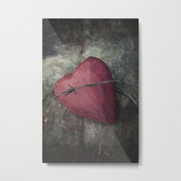 Trapped Heart III Metal Print