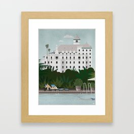 Chateau Marmont poster Framed Art Print