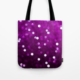 Dark Magenta Fuchsia Sparkly Bokeh Tote Bag