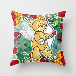 Cupid Bear Throw Pillow