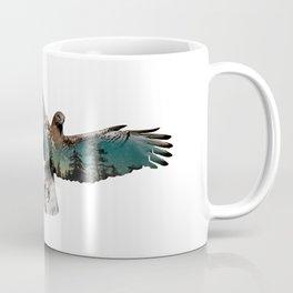 Hawk Double Exposure Coffee Mug