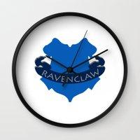 ravenclaw Wall Clocks featuring Ravenclaw by konchoo