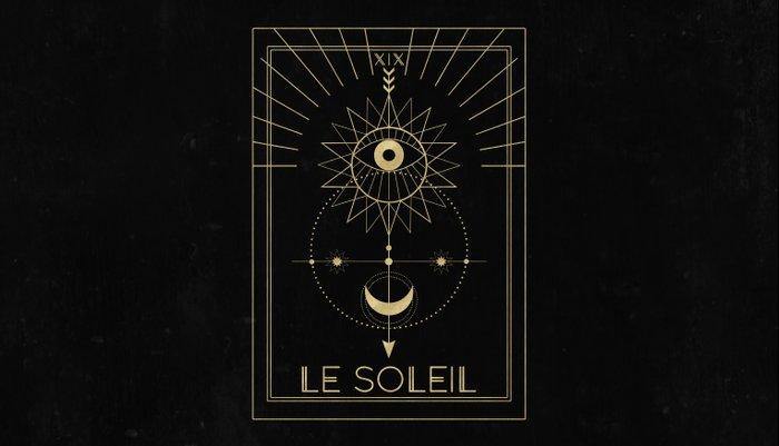 Le Soleil or The Sun Tarot Pillow Sham