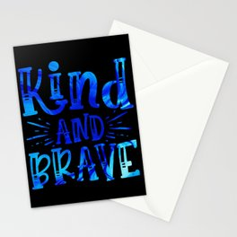 Kind and Brave Stationery Cards