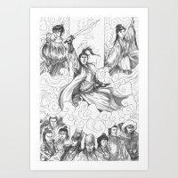 Bi Xue Jian Art Print