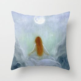 Poetry of the Moon Throw Pillow