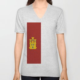 flag of castilla la mancha Unisex V-Neck