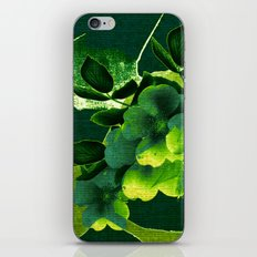 green floral iPhone & iPod Skin