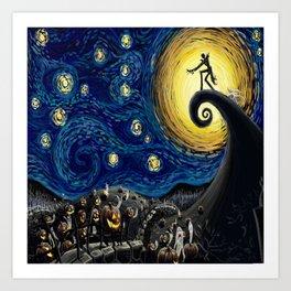 Jack starry night Art Print