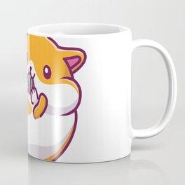 Cute Hamster Eating Icon Illustration Hamster Mascot Cartoon Character Animal Icon Concept Isolated Coffee Mug