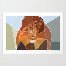 Crystal Lion Art Print