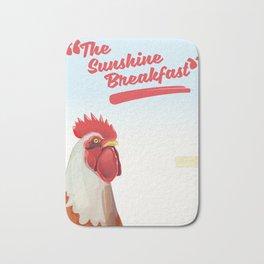 """The Sunshine Breakfast"" vintage poster Bath Mat"