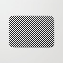 Back and White Lines Minimal Pattern Basic Bath Mat