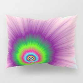Explosion in Green Purple and Blue Pillow Sham
