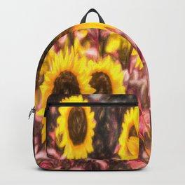 Sunflower Vibrant Art Backpack