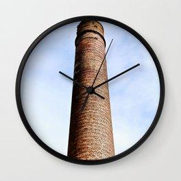 Tall Brick Chimney Stack Wall Clock