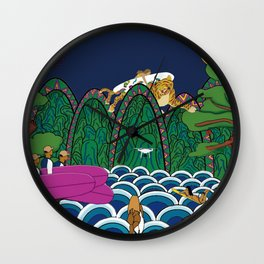 Korea style surf art series _ Utopia(Ilwol Obongdo) Wall Clock