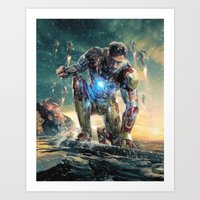 ironman Art Prints featuring Ironman by crayonide