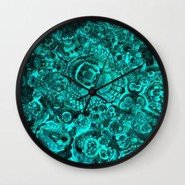 Flotsam & Jetsam II (Teal) Wall Clock