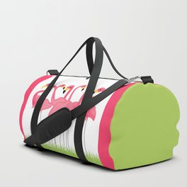Cuban Pink Flamingos Duffle Bag