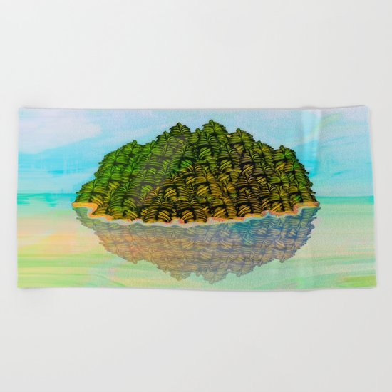Lost in the Green Island / Nature 05-12-16 Beach Towel