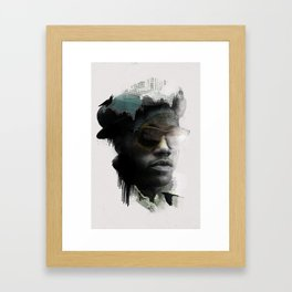 Nino Brown Framed Art Print