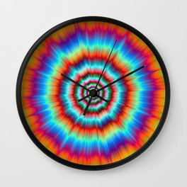 Explosion in Blue and Orange Wall Clock