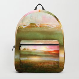 Sunset and flowers Backpack
