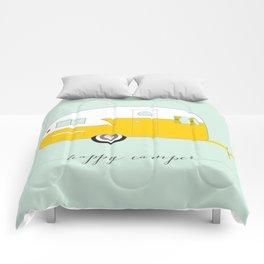 Yellow Happy Camper Comforters