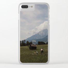 Biking through the Austrian Alps Clear iPhone Case