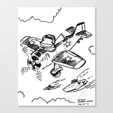 Ape Flies Air Cover Over the Fleet Canvas Print