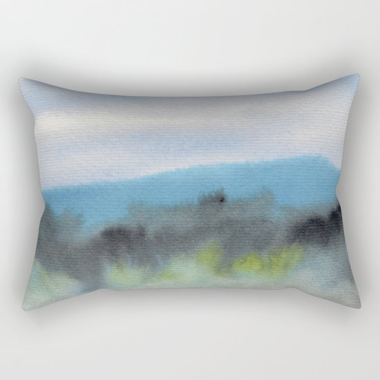 Watercolor abstract landscape 08 Rectangular Pillow