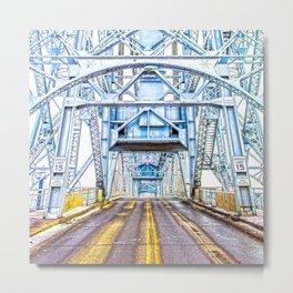 Lift Bridge Metal Print