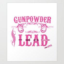 Gunpowder and Lead Graphic T-shirt Art Print