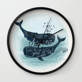 Moby Whale Wall Clock