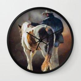 Cowboy Blues Wall Clock