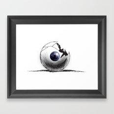 Broken Eye Framed Art Print