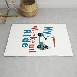 My Weekend Ride Funny Golf Lover Gift Rug