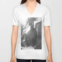 buddah V-neck T-shirts featuring OM Hand by Nicolette Hand